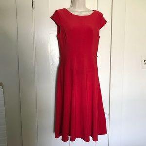 Ann Klein Red Dress.